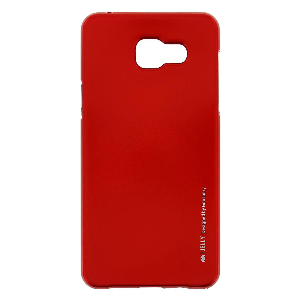 Mercury i-Jelly Case silikonové pouzdro pro Samsung A510 Galaxy A5 2016 Metal Red