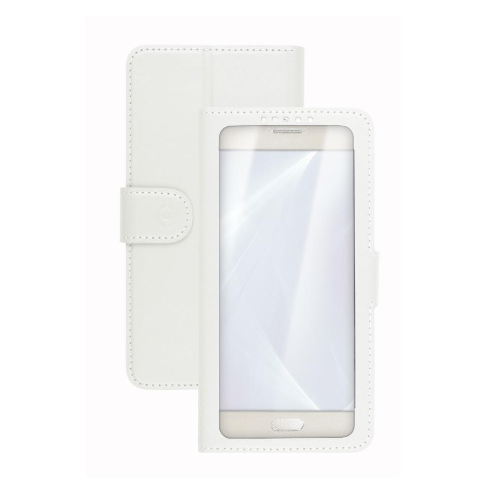 "CELLY View Unica flipové pouzdro vel. XL (4.5""-5"") bílé"