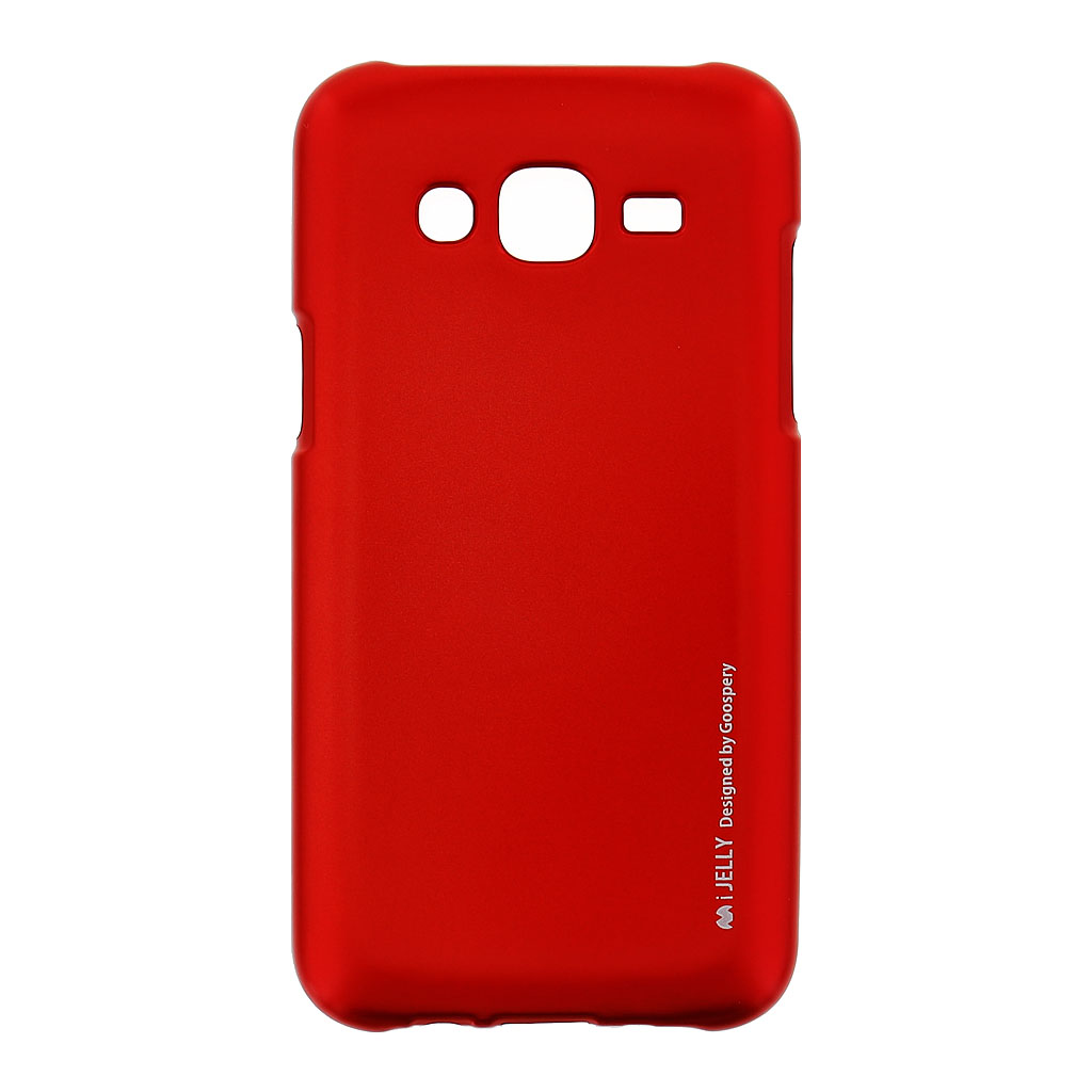 Mercury i-Jelly Case silikonové pouzdro pro Samsung J500 Galaxy J5 Metal Red