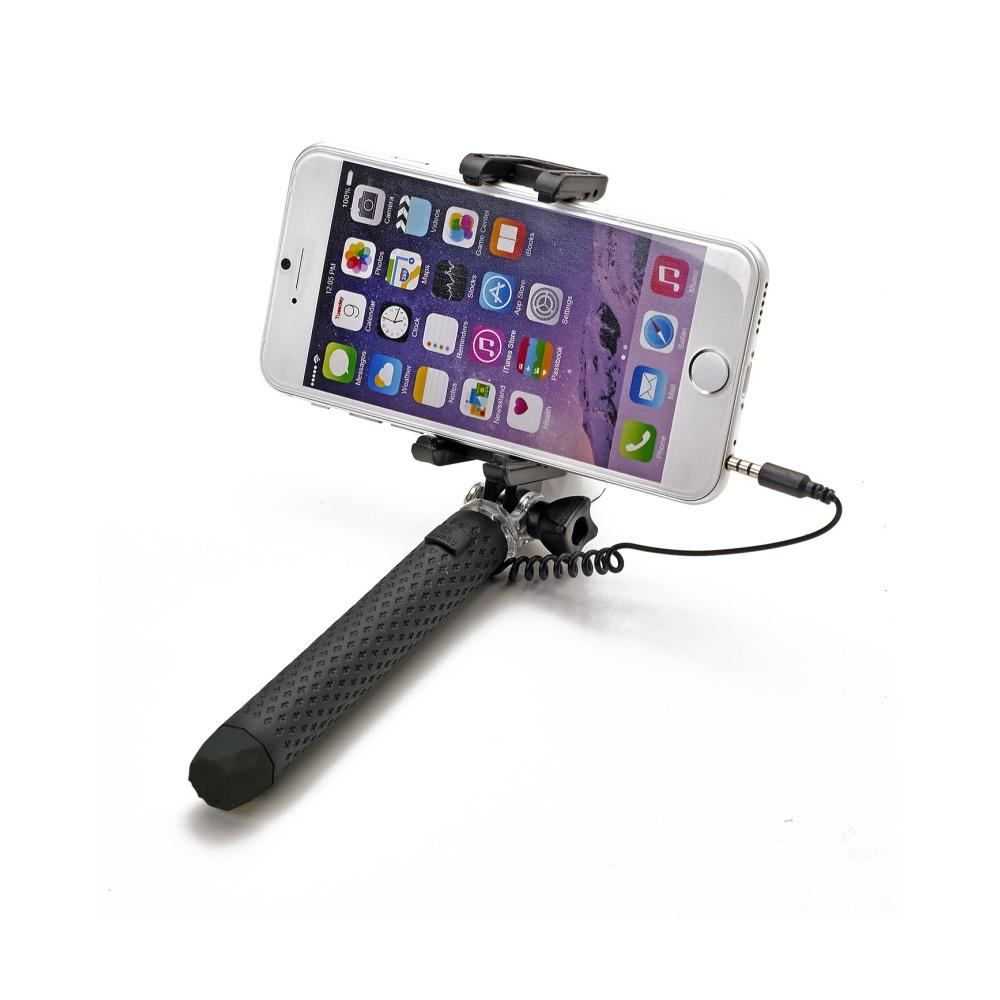 Selfie tyč CELLY Mini selfie, spoušť přes 3,5 mm jack, kompaktní rozměry, černá