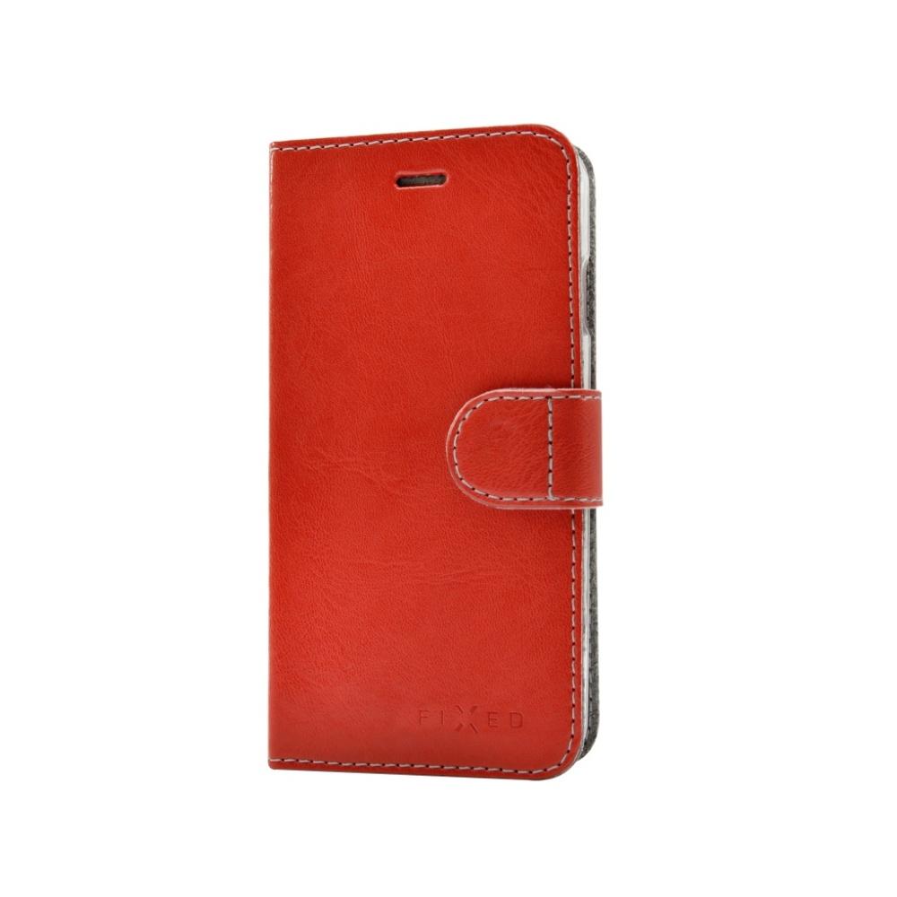 FIXED FIT Flipové pouzdro na mobil HTC 10 červené