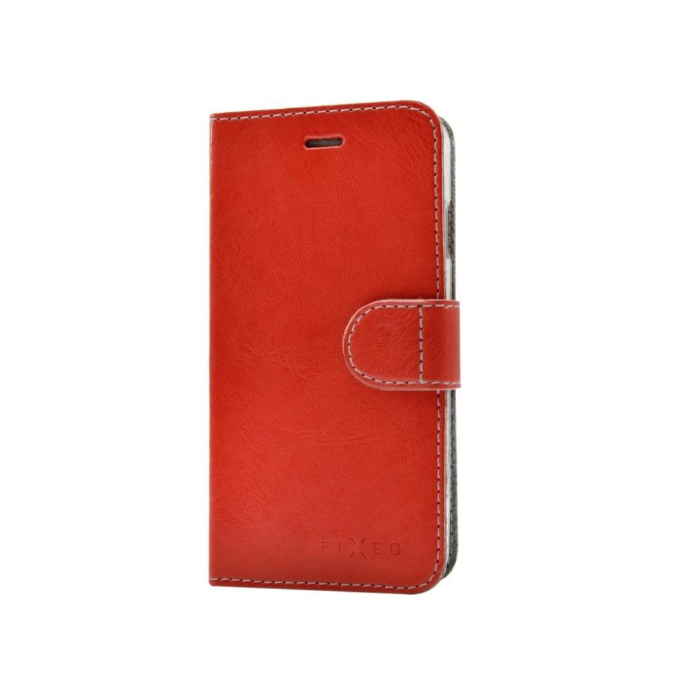 FIXED FIT flipové pouzdro na mobil Motorola Moto Z červené