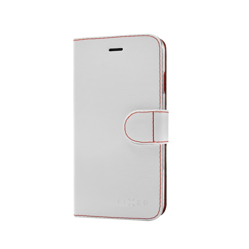 FIXED FIT flipové pouzdro na mobil Lenovo Vibe S1 Lite bílé
