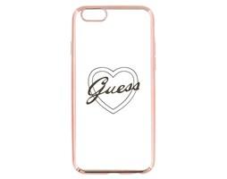 Guess Signature silikonové pouzdro pro Apple iPhone 6/6S, Rose