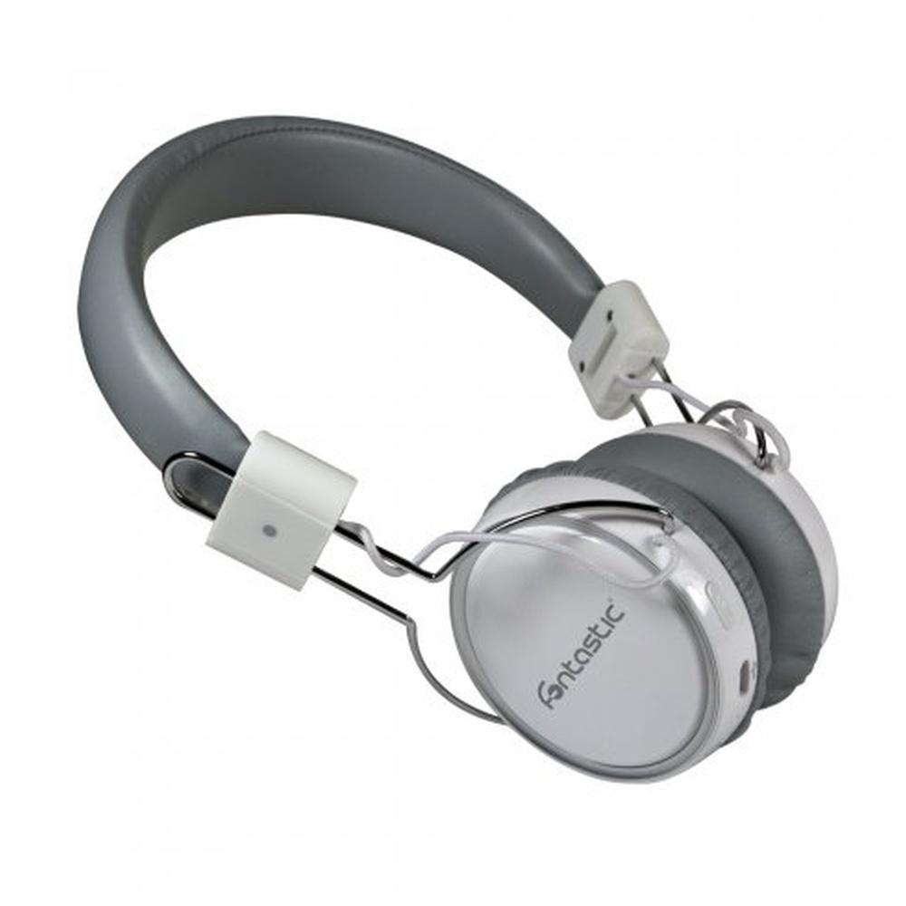Fontastic POGO Bezdrátová Bluetooth sluchátka bílo-stříbrná
