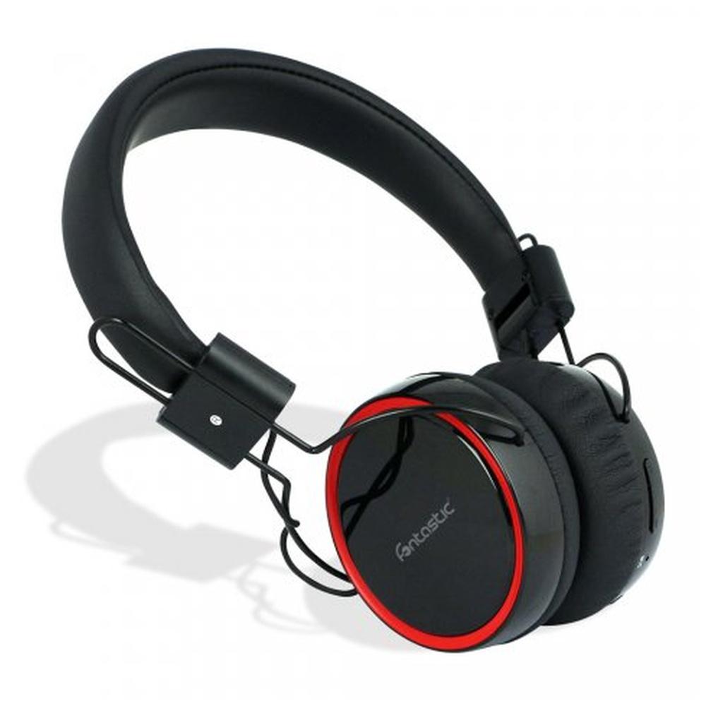 Fontastic POGO Bezdrátová Bluetooth sluchátka černo-červená