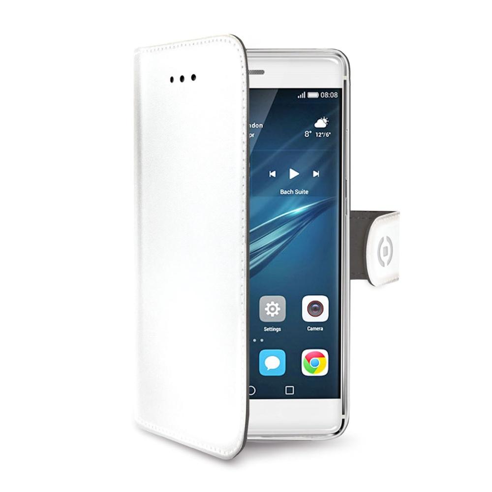 CELLY Wally Pouzdro flip na mobil Huawei P9 bílé