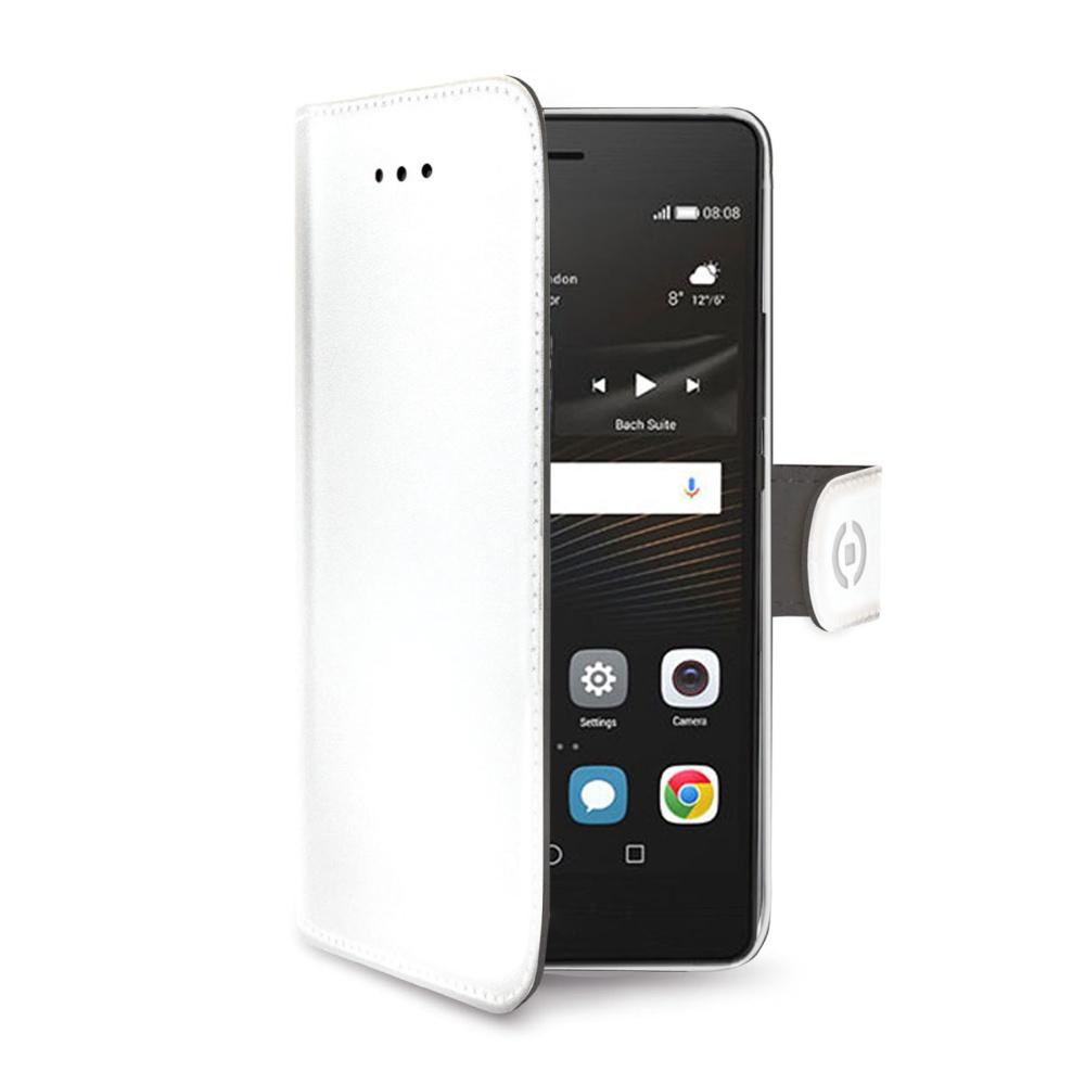 CELLY Wally Pouzdro flip na mobil Huawei P9 Lite bílé