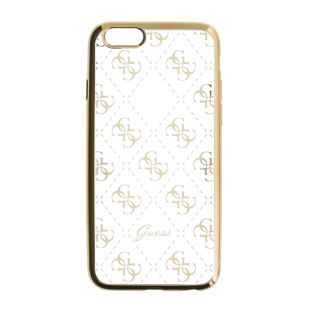 Guess 4G GUHCP6TR4GG silikonové pouzdro pro Apple iPhone 6/6S Gold
