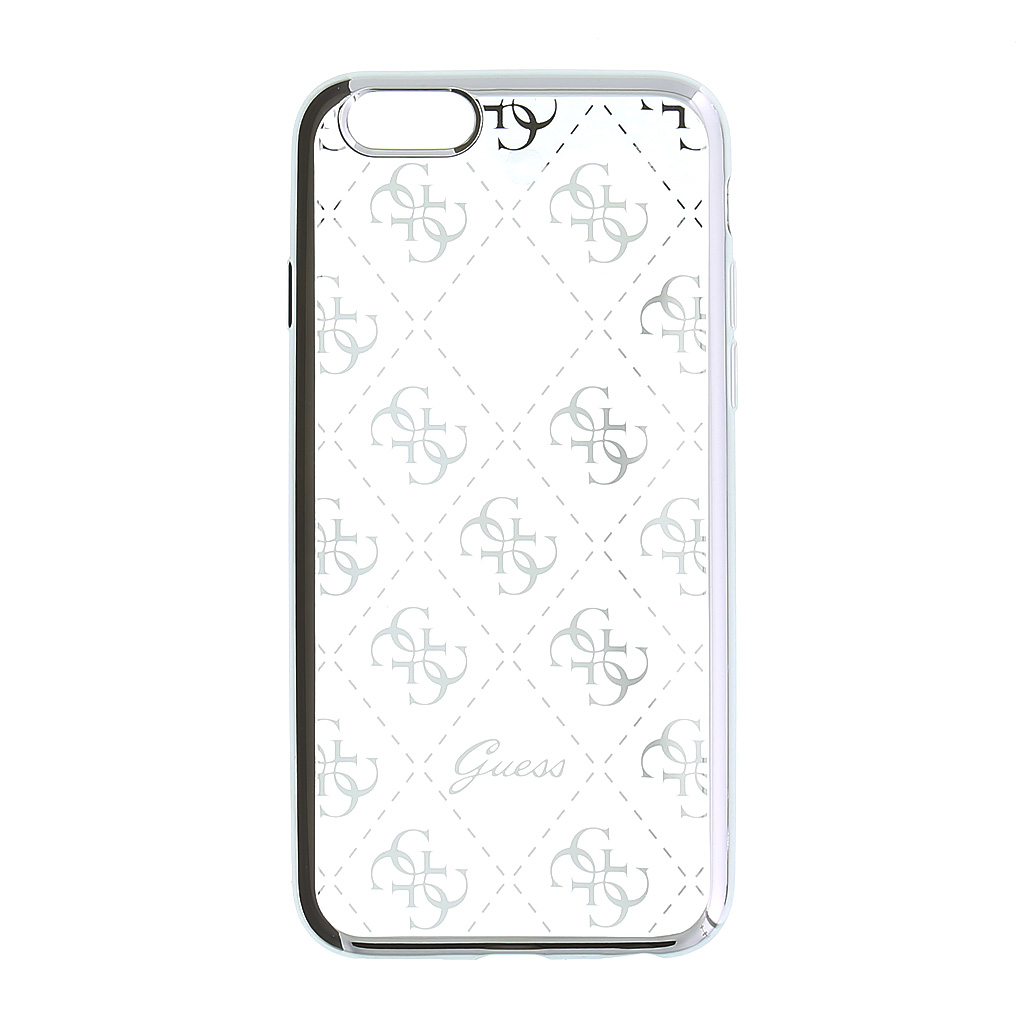 Guess 4G GUHCP6TR4GSI silikonové pouzdro pro Apple iPhone 6/6S Silver