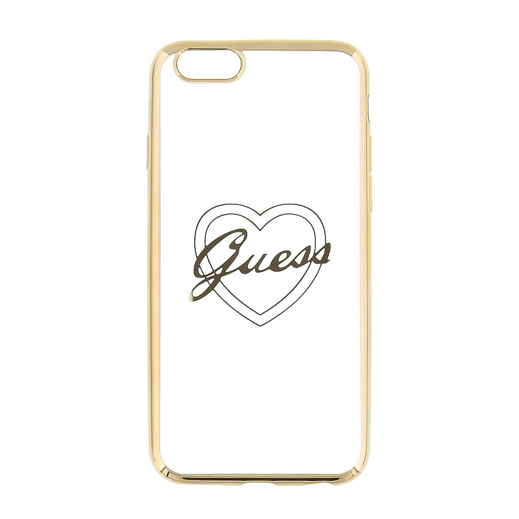 Guess Signature GUHCP6TRHG silikonové pouzdro pro Apple iPhone 6/6S Heart Gold