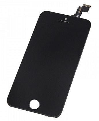 LCD displej + dotyková deska pro Apple iPhone 5c, černá (OEM)
