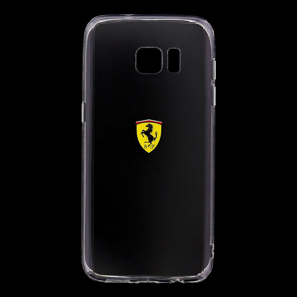 Ferrari Racing FEHCP6BK silikonové pouzdro pro Apple iPhone 6/6S Transparent Black