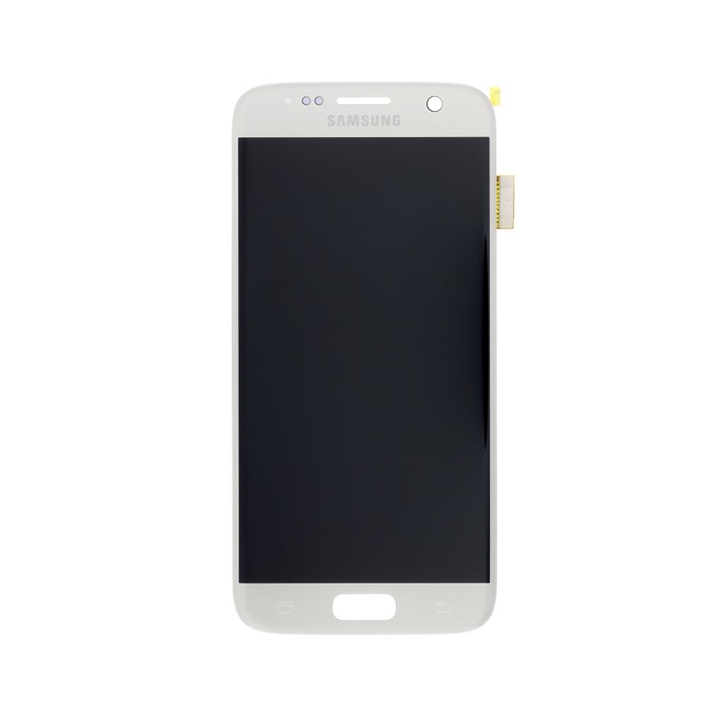 LCD display + dotyk. deska pro Samsung Galaxy S7 (G930), stříbrná