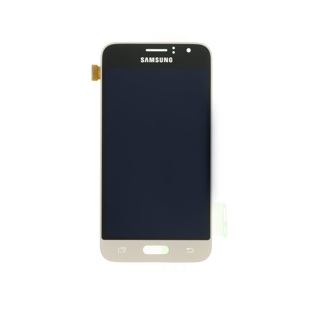 LCD display + dotyk. deska pro Samsung Galaxy J1 (J120) 2016, zlatá