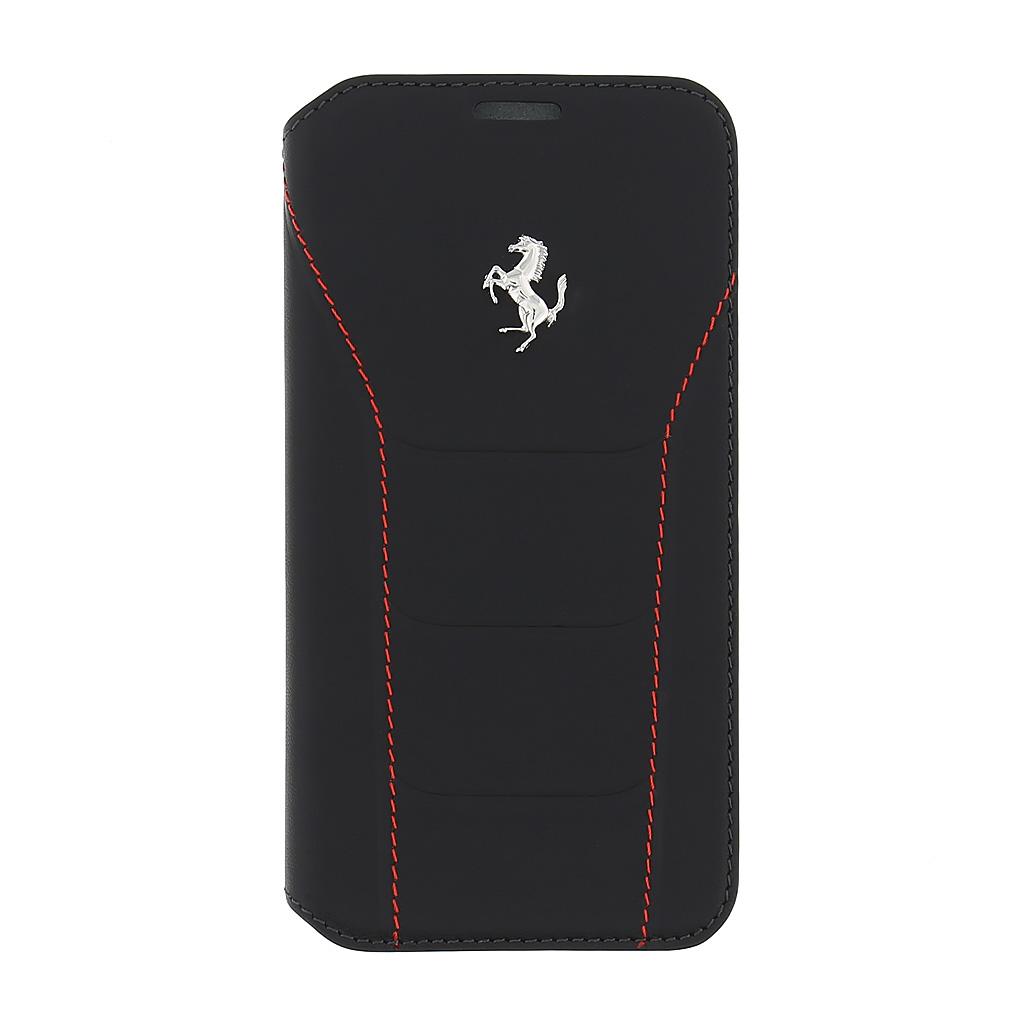 Ferrari 488 pouzdro flip FESEFLBKS7BKR Samsung Galaxy S7 Silver/Red