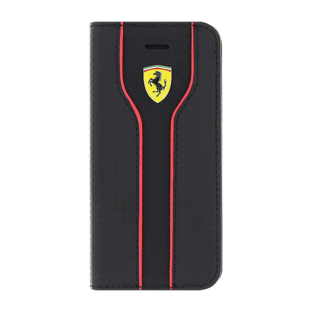 Ferrari Racing pouzdro flip FEST2FLBKPSEBK Apple iPhone 5/5s/SE černé