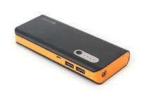 Power Bank OMEGA 13000 mAh Li-on, LED svítilna, micro USB, černo-oranžová