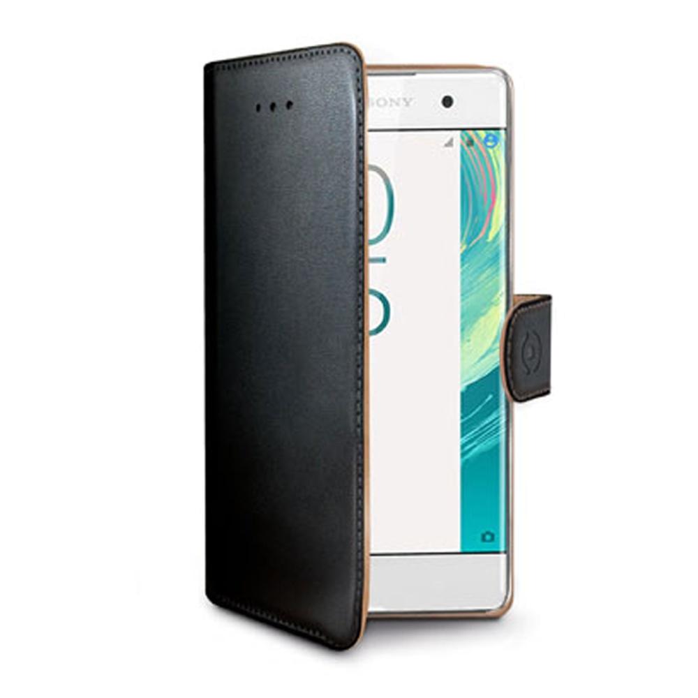 CELLY Wally Pouzdro flip na mobil Sony Xperia XA černé
