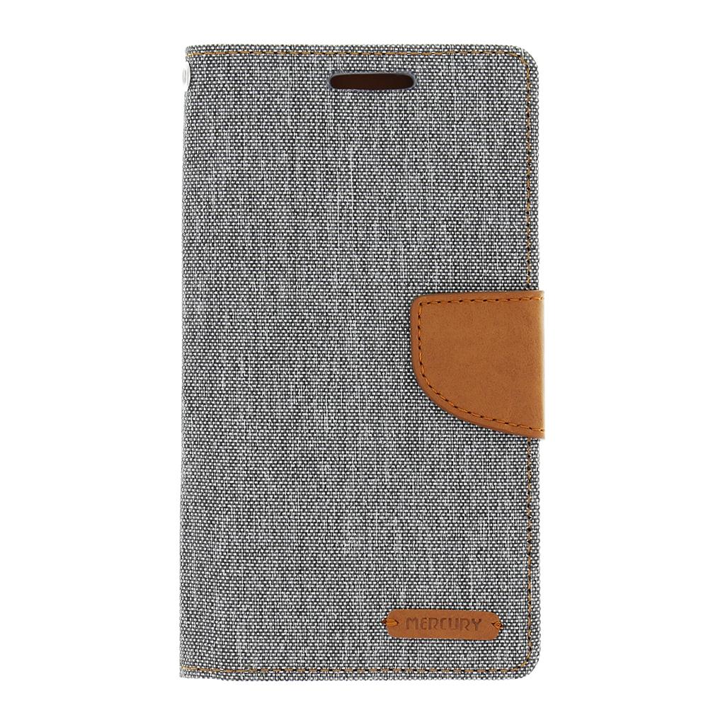 Mercury Canvas Diary Pouzdro flip Samsung Galaxy J5 2016 šedé/hnědé