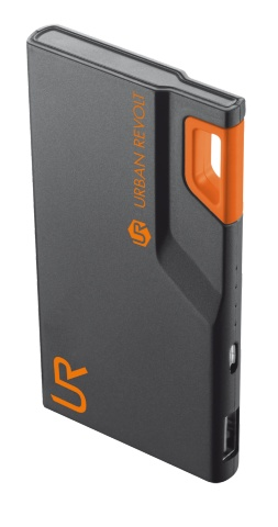 Powerbank TRUST 3000T Thin Portable Charger - black/orange