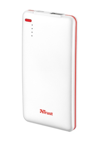 Powerbank TRUST 4000T Thin Portable Charger - white