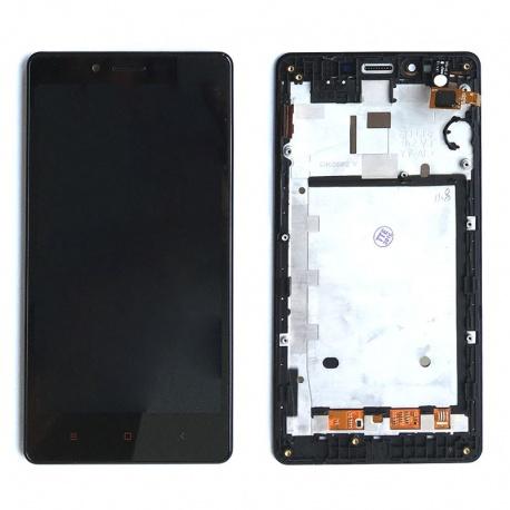 LCD displej + Dotyková deska + přední kryt pro Xiaomi Redmi Note 2 Black