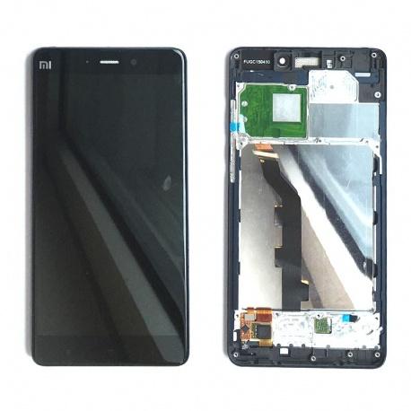 LCD displej + dotyková deska + přední kryt pro Xiaomi Mi Note Black