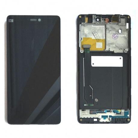 LCD displej + dotyková deska + přední kryt pro Xiaomi M4C Black