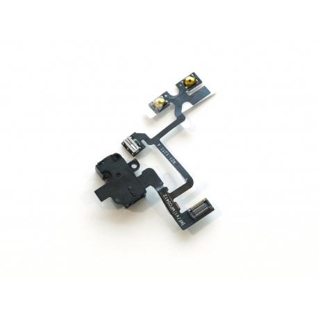 Apple iPhone 4G Audio Jack + Volume Connector Flex Black