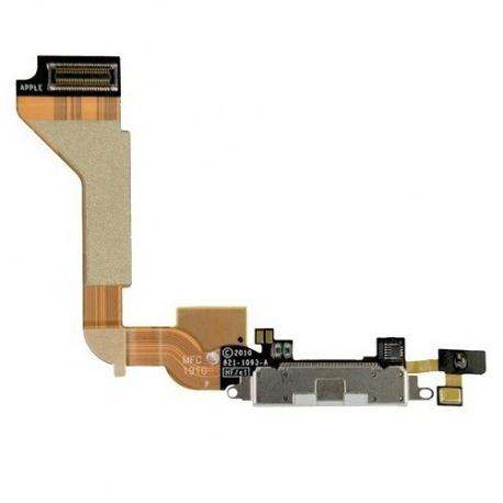 Apple iPhone 4 Nabíjecí Dock Konektor Flex Bílá