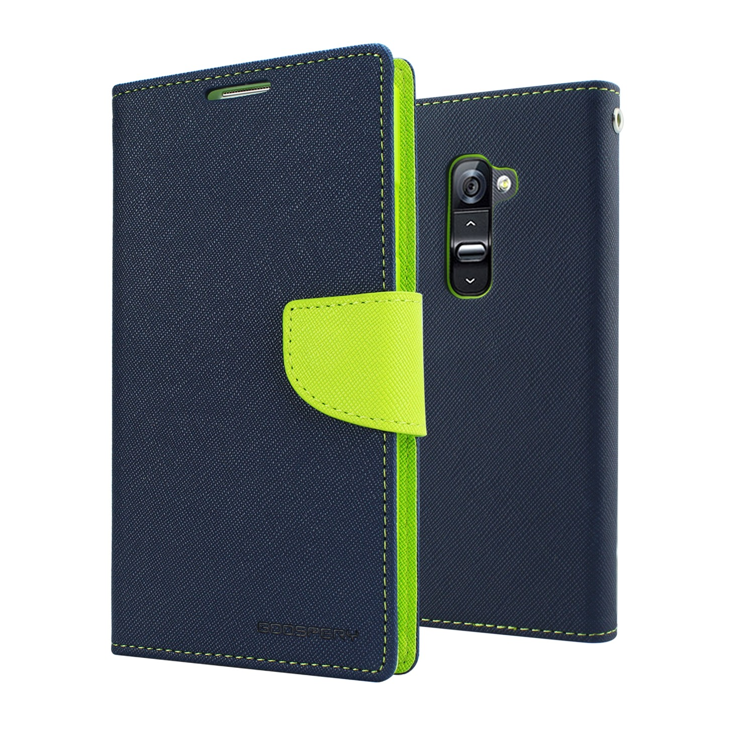Mercury Fancy Diary flipové pouzdro Apple iPhone 7 modré/ limetka