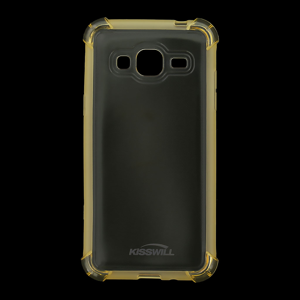 Kisswill Shock silikonové pouzdro pro Samsung J320 Galaxy J3 2016 zlaté