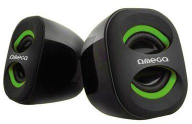 USB reproduktory Omega OG-115G 3W Green