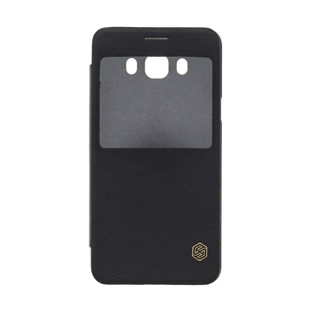 Nillkin Qin S-View flipové pouzdro Samsung Galaxy J7 2016 černé