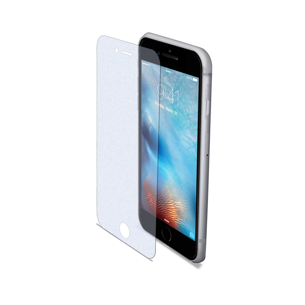Ochranné tvrzené sklo CELLY Glass s ANTI-BLUE-RAY vrstvou pro Apple iPhone 7, matné