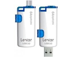 OTG flash disk Lexar JumpDrive M20 64GB microUSB / USB 3.0