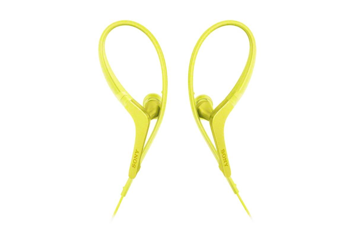 SONY sluchátka ACTIVE MDR-AS410AP Handsfree žlutá
