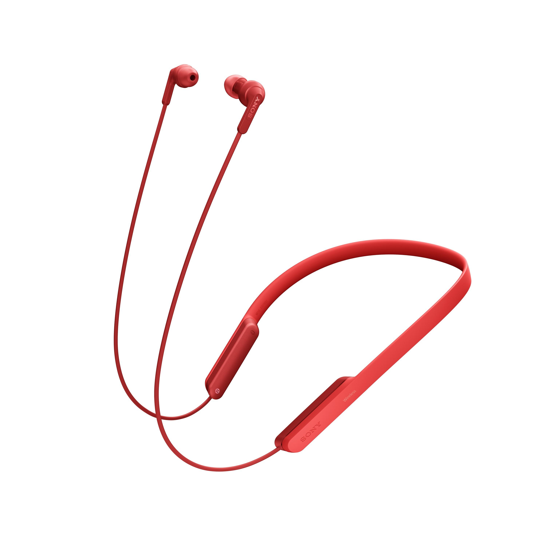SONY Sluchátka ACTIVE MDR-XB70BT Handsfree červená