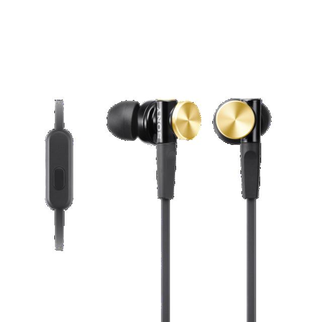 SONY sluchátka MDR-XB70AP Handsfree zlatá