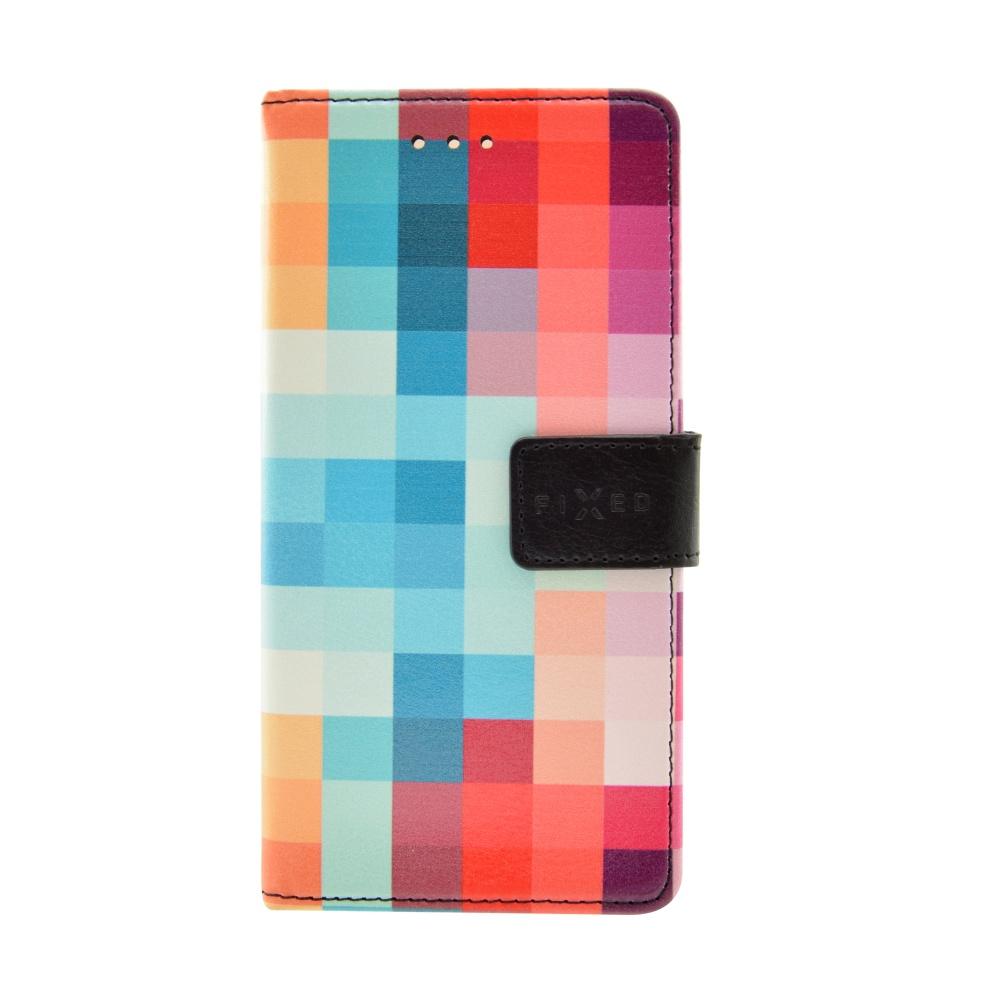 FIXED Opus flipové pouzdro Huawei Y5 II motiv kostky