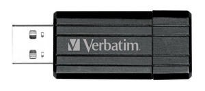 Flash disk Verbatim Store 'n' Go PinStripe 64GB USB 2.0 Black