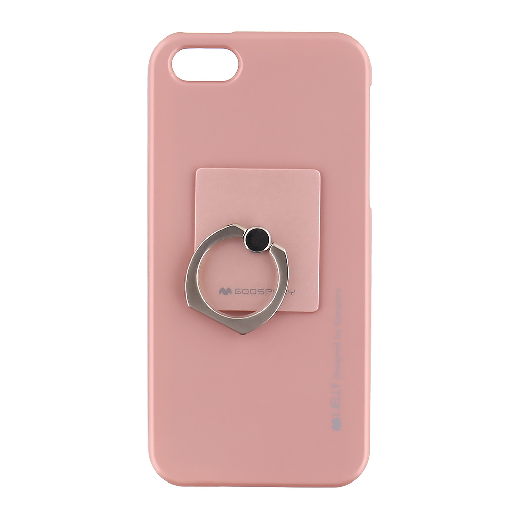 Mercury i-Jelly Ring silikonové pouzdro pro Apple iPhone 5 5S SE Rose Gold b0f0aa3f17f