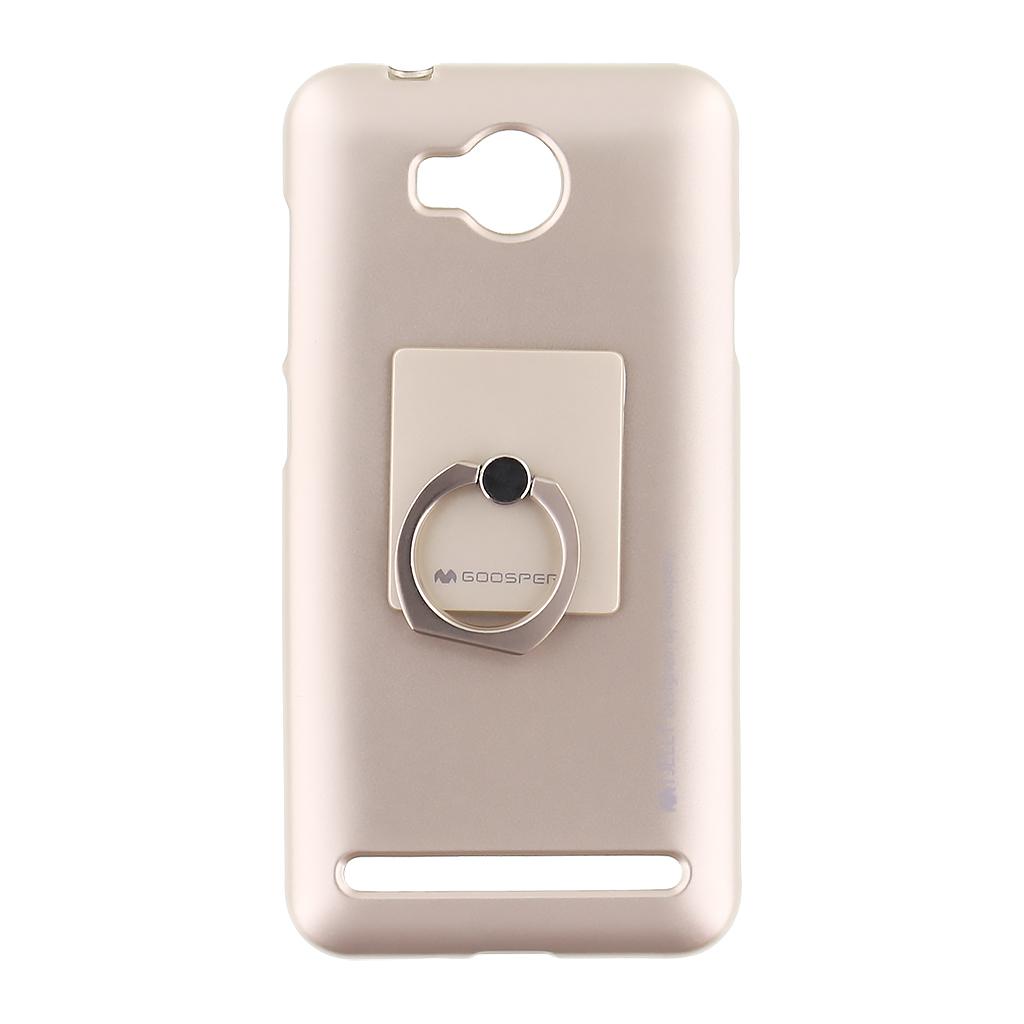 Mercury i-Jelly Ring silikonové pouzdro pro Apple iPhone 5/5S/SE Gold