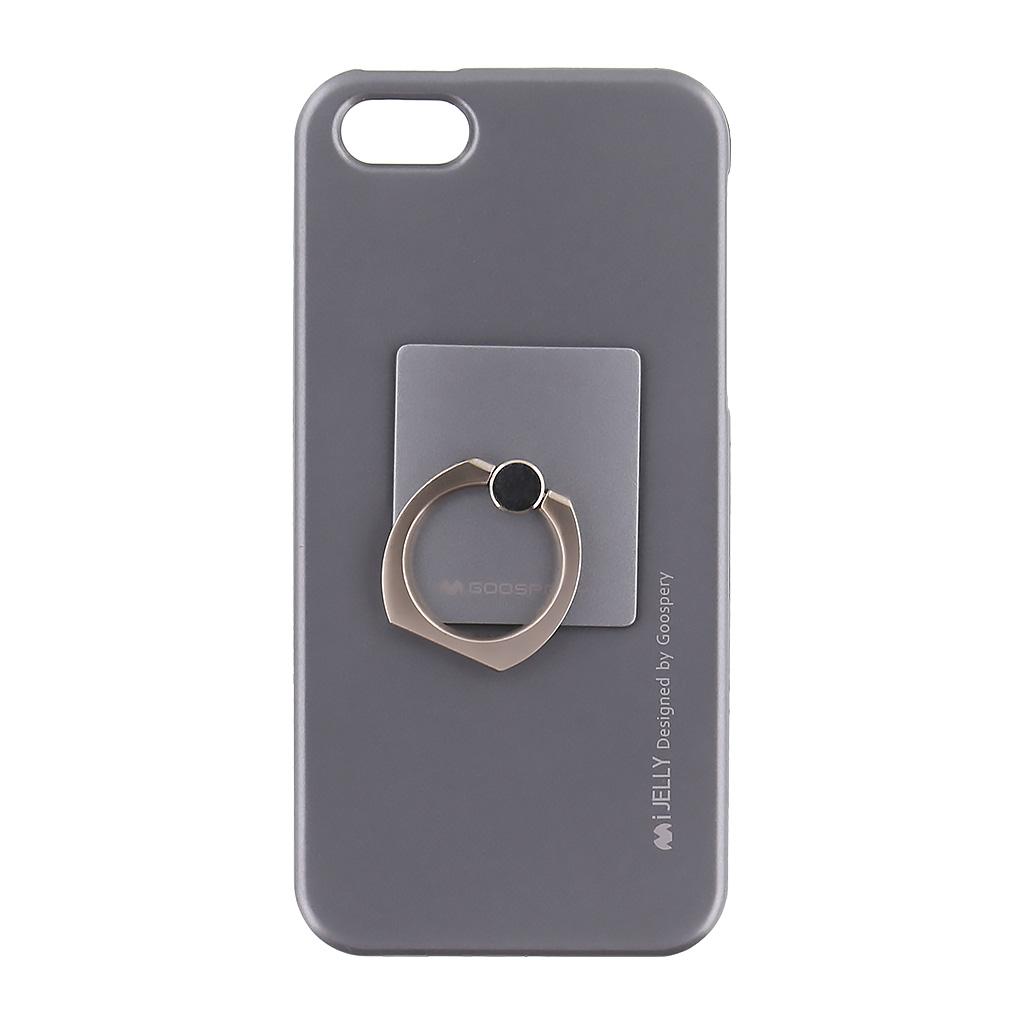 Mercury i-Jelly Ring silikonové pouzdro pro Apple iPhone 5/5S/SE Grey