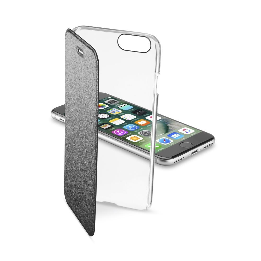 CellularLine Clear Book flipové pouzdro Apple iPhone 7 černé