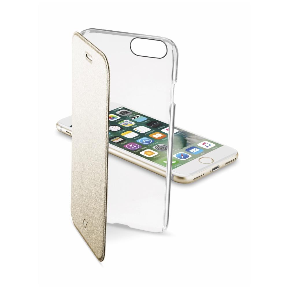 CellularLine Clear Book flipové pouzdro Apple iPhone 7 zlaté