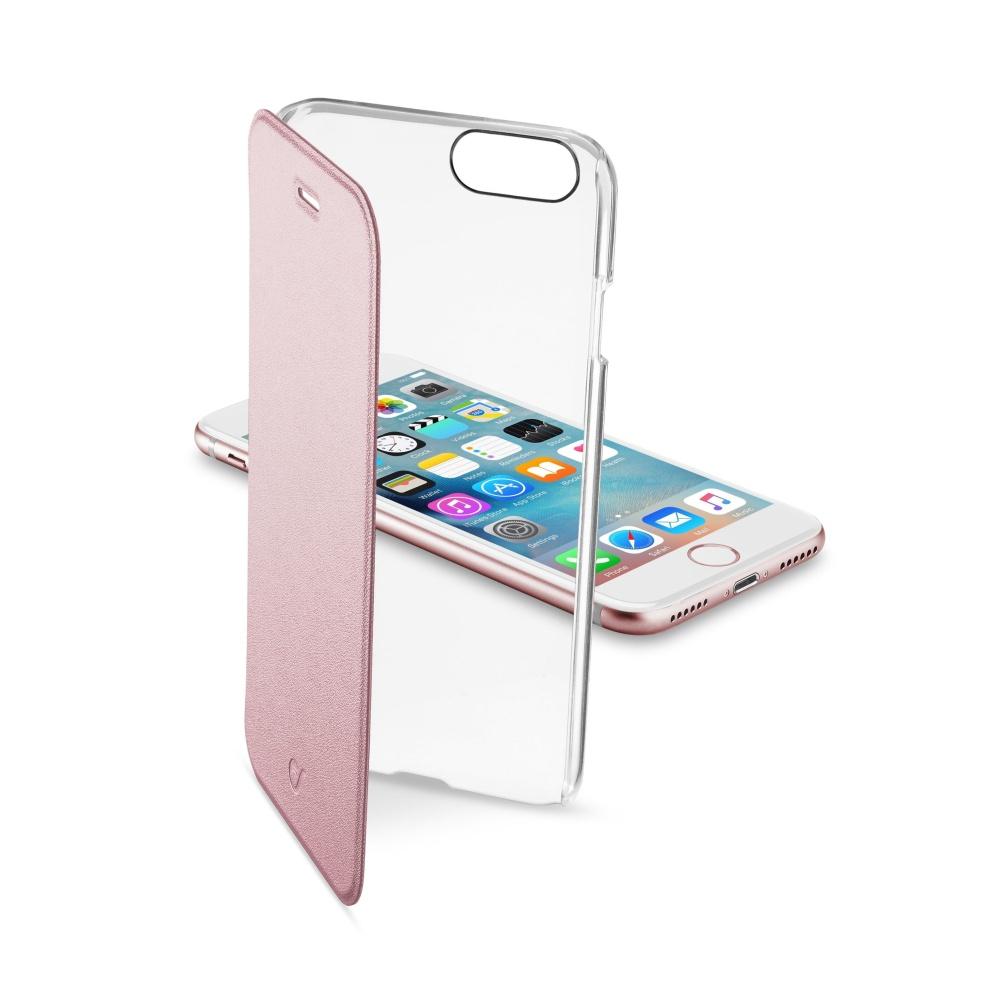 CellularLine Clear Book flipové pouzdro Apple iPhone 7 růžové