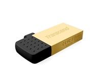 OTG flash disk Transcend JetFlash 380G 16GB USB 2.0 / micro USB Gold