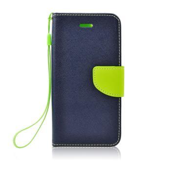 Fancy Diary flipové pouzdro Apple iPhone 4/4S modro/limetkové